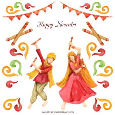 Personalized Happy Navratri Greetings card