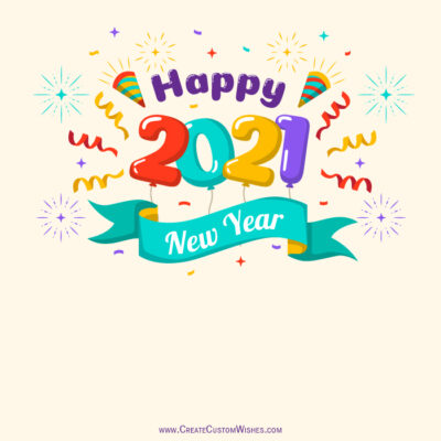 Put your logo on Happy New Year 2021 Card