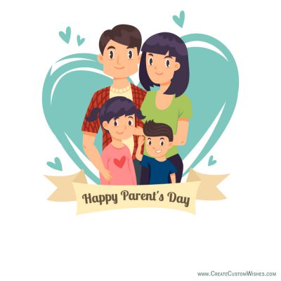 Customized Happy Parent's Day Wishes card