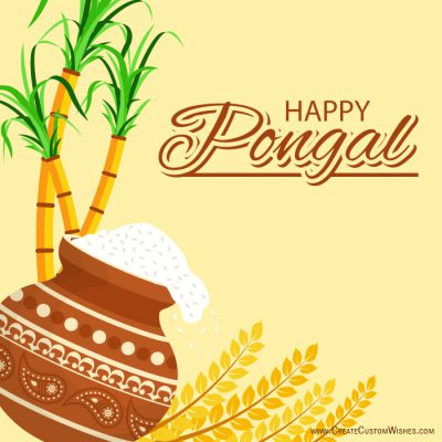 Customized Happy Pongal Wishes Cards