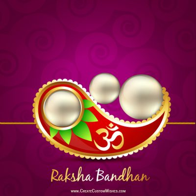 Personalized Raksha Bandhan Wishes Card