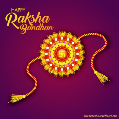 Customized Happy Raksha Bandhan Wishes Cards