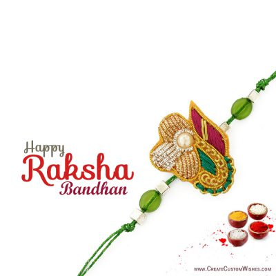 Write Message on Raksha Bandhan Images
