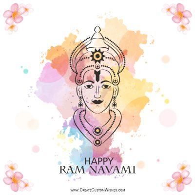 Write your name on Ram Navami Card