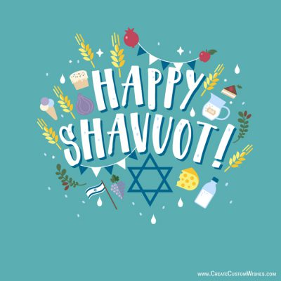Personalized Happy Shavuot Greetings Cards