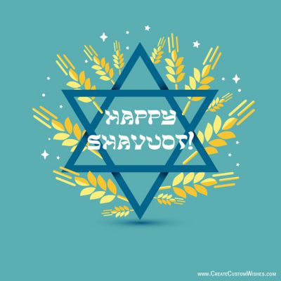 Customized Happy Shavuot Wishes card