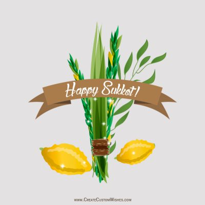 Make your own Happy Sukkot wishes card