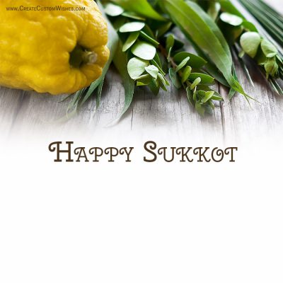 Customized Happy Sukkot Greetings Card