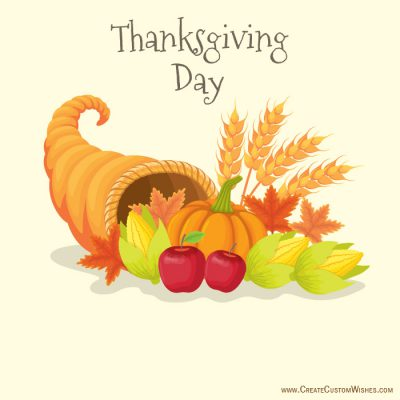 Create your own Thanksgiving Day card