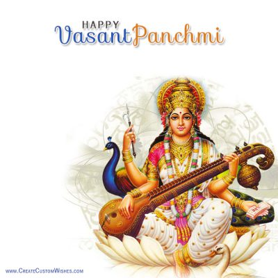 Customized Vasant Panchmi Wishes Card
