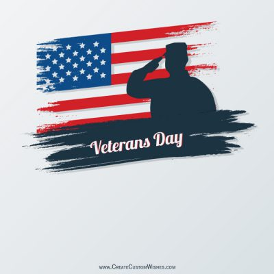 Write your name on Veterans Day Image