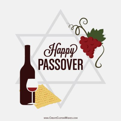 Customized Happy Passover Wishes card