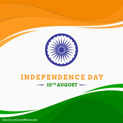 Set your Brand logo on Independence Day Card