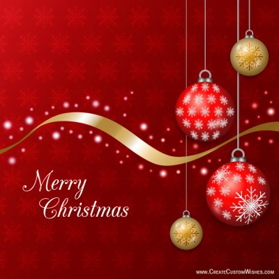 Personalized Merry Christmas Greetings Cards