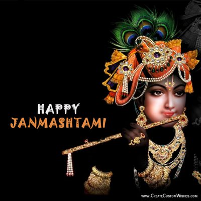 Customized Happy Janmashtami Wishes Card