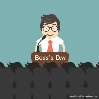 Make a Boss's Day Card in Yourself