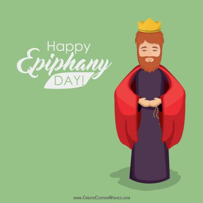 Customized Happy Epiphany Day Wishes Card