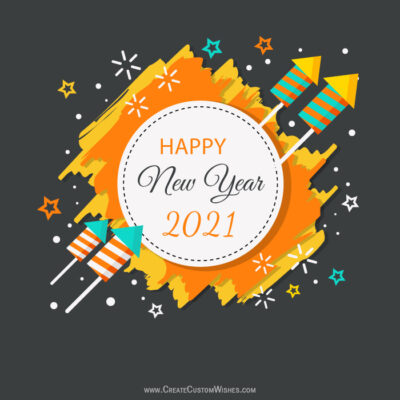 Write a messages on New Year Eve image