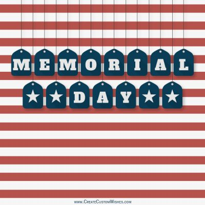 Customized Memorial Day Greetings Card
