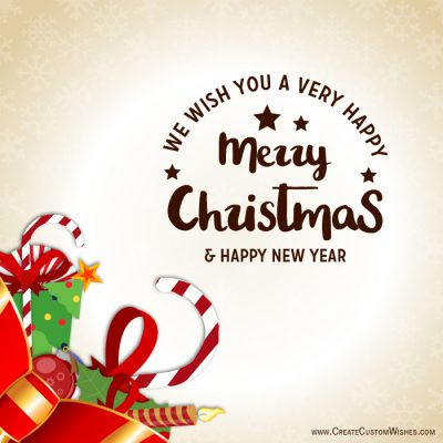 Customized Merry Christmas Wishes card