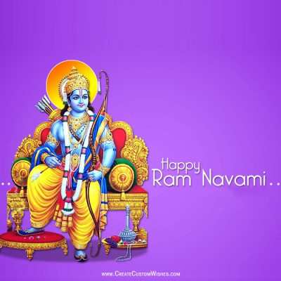 Customized Rama Navami Wishes Card