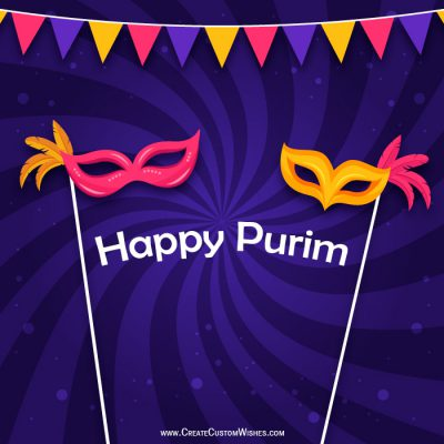 Make your own Happy Purim Greetings card