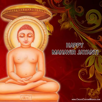Customized Mahavir Jayanti Wishes card