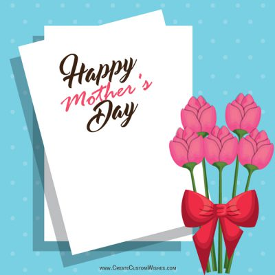Personalized Happy Mother's Day Cards