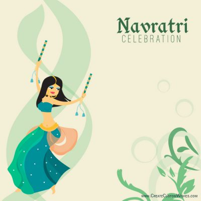 Happy Navratri Image with your brand logo