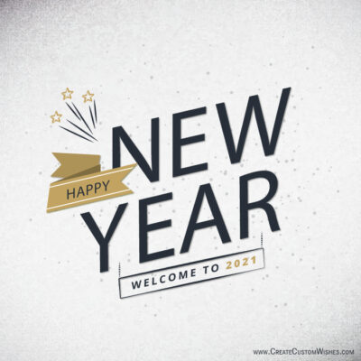 Personalized Happy New Year Greetings Cards
