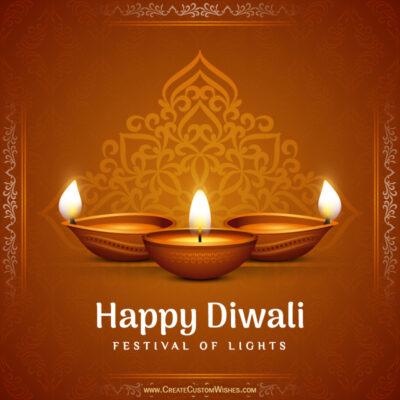 Online Customized Happy Diwali Wishes Image