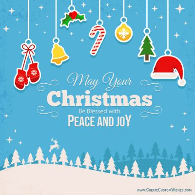 Free download customized merry christmas card