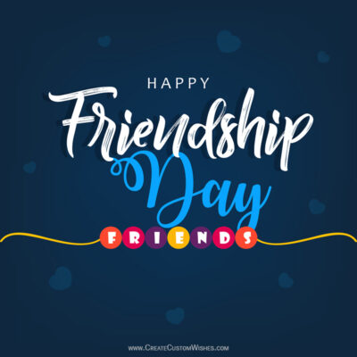 Personalized Friendship Day Greetings Cards
