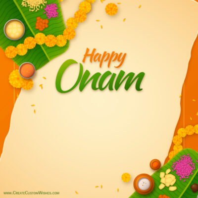 Personalized Happy Onam Wishes Card