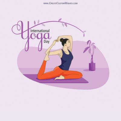 Personalized Yoga Day Greetings Card