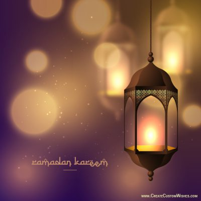 Write your message on Ramzan Eid Image