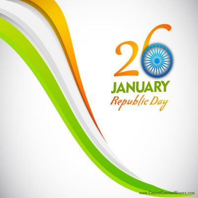 Customized Happy Republic Day Wishes card