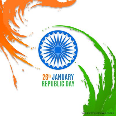 Personalized 26th January Republic Day card