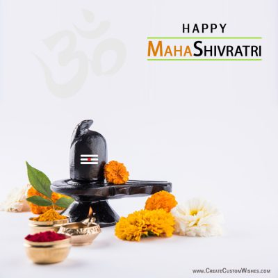 Customized Maha Shivratri Wishes card