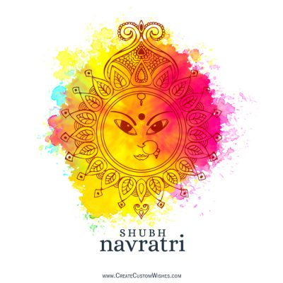 Write your name on happy navratri images
