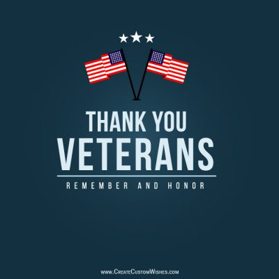 Personalized Veterans Day Greetings Card