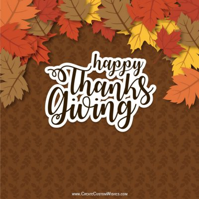 Personalized Thanksgiving Day Greetings Cards