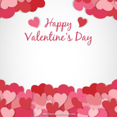 Personalized Valentine's Day Greetings Card