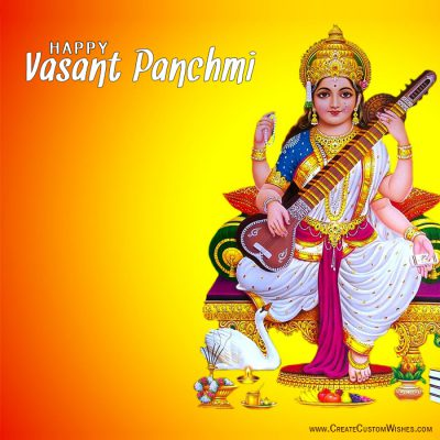Personalized Vasant Panchmi Wishes card