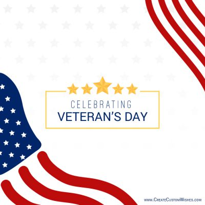 Customized Veterans Day Wishes Card