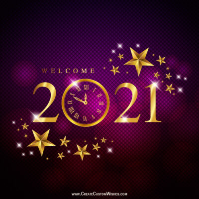 Customized New Year Eve 2021 Wishes card