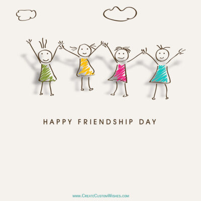 Write a messages on Friendship Day image
