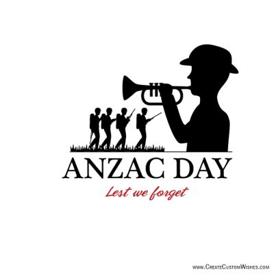 Customized Anzac Day Greetings Cards