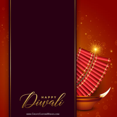 Write your message on diwali crackers greeting cards