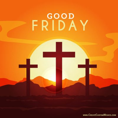 Write text on Good Friday image